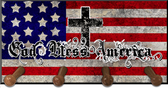 God Bless America Keychain Holder