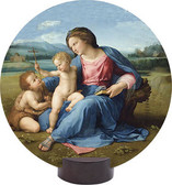 Alba Madonna Round Desk Plaque
