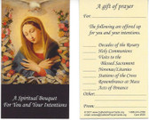 A Spiritual Bouquet For You and Your Intentions Prayer Card