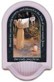 Polish Madonna Prayer Holy Water Font