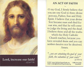An Act Of Faith Prayer Card