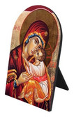 Icon of Mary Arched Desk Plaque