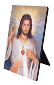 Divine Mercy with Sacred Heart Detail Vertical Desk Plaque
