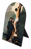 Crucifixion of Our Lord Arched Desk Plaque