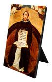 St. Thomas Aquinas Vertical Desk Plaque