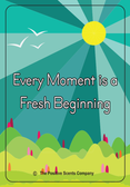 inspirational air freshener every moment is a new beginning