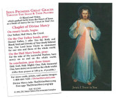Inexpensive Divine Mercy Prayer Cards with Chaplet of Divine Mercy(black)