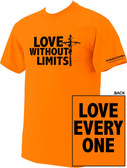Love Without Limits Neon Orange T-Shirt