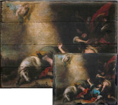 The Conversion of Saint Paul by Murillo Rustic Wood Plaque