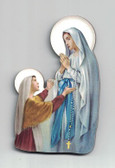 Our Lady Of Lourded Wood Magnet