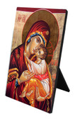 Madonna and Child Icon Vertical Desk Plaque