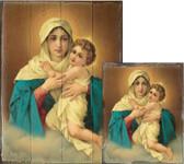 Schoenstatt Madonna Rustic Wood Plaque