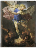 St. Michael Rustic Wood Plaque
