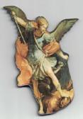 St. Michael The Archangel Wood Magnet