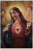 Sacred Heart of Jesus Rustic Wood Plaque