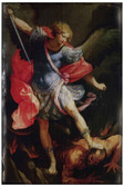 St. Michael the Archangel Rustic Wood Plaque