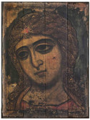 Archangel Gabriel Rustic Wood Russian Icon