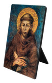 St. Francis by Cimabue of Assisi Vertical Desk Plaque