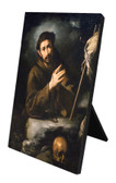 St. Francis of Assisi in Prayer Vertical Desk Plaque