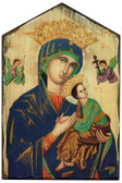 Mother of Perpetual Help Rustic Wood Icon Plaque