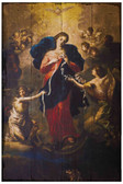 Mary Undoer of Knots Rustic Wood Plaque