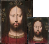 Head of Christ by Gerard David Rustic Wood Plaque