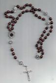 Padre Pio Brown Rosary