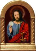Christ with Eucharist Desk Shrine