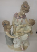 Mother With Children Porcelain Statue