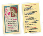 The Gal In The Glass Laminated Prayer Card