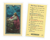 The Power Of Prayer Laminated Prayer Card