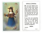 Nino de Atocha Laminated Prayer Card