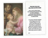 Prayer For Our Beloved Notre Dame Laminated Prayer Card
