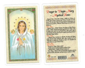 Prayer To Virgin Mary Mystical Rose Laminated Prayer Card