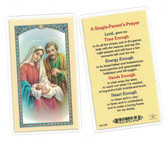 A Single Parent's Prayer Laminated Prayer Card