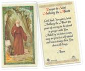 Prayer To Saint Anthony The Abbott Laminated Prayer Card