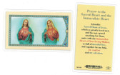 Prayer To The Sacred Heart & Immaculate Heart Laminated Prayer Card