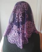 Wine Purple Eva Spanish Veil