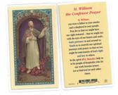 St. William The Confessor Laminated Prayer Card