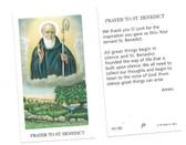 Prayer To St. Benedict Prayer Card