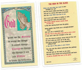 The Man In The Glass Laminated Prayer Card