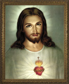 Traditional Sacred Heart of Jesus Framed Art