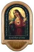 Sacred Heart of Jesus Prayer Holy Water Font