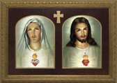 Traditional Sacred & Immaculate Hearts Framed Art