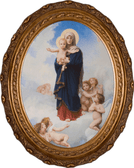 Our Lady of the Angels Oval Canvas