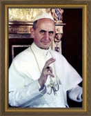 Blessed Pope Paul VI - Gold Framed Art