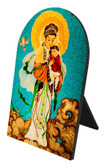 Our Lady of China Arched Desk Plaque