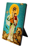 Our Lady of China Vertical Desk Plaque