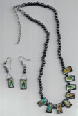 Metallic Necklace and Earrings
