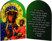 Our Lady of Czestochowa Arched Diptych